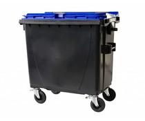 Großmüllbehälter • mit Flachdeckel • 770 Liter • Tragkraft 360 kg • Standart Grau