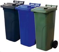 Conteneur à déchets et poubelles à 2 roues