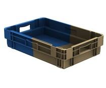 Stapel- en nestbare bakken 600x400x143 Gesloten, 25 Liter • Bi-Color