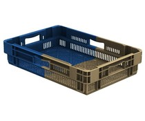 Stack nest container 600x400x127 perforated • 22 Liter • Bi-Color