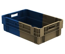 Bacs gerbables emboîtables 600x400x183 fermé, 34 Litres • Bi-Color