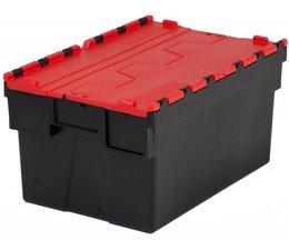 LOADHOG Bacs de distribution 600x400x400 rouge • 77 Litres