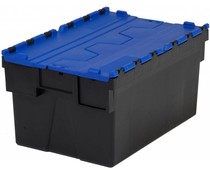 LOADHOG Attached lid container 600x400x400 blue • 77 Liter
