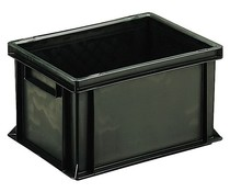 ESD Euro container 400x300x220 solid two handles