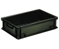 ESD Euro container 600x400x150 solid two handles