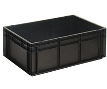 ESD Euro container 600x400x220 solid two handles
