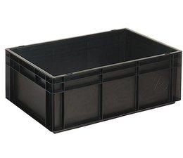 Bac norme Europe ESD 600x400x220 mm fond et parois plein(es), pour usage Anti-electrostatique