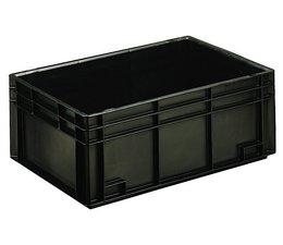 Bac norme Europe ESD 600x400x236 mm fond et parois plein(es), pour usage Anti-electrostatique