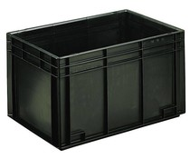 ESD Euro container 600x400x340 solid two handles
