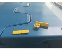 Veiligheidssleutel voor distributiebakken • rood