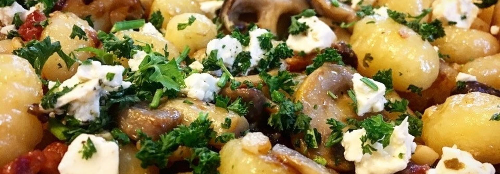 Gnocchi met paddenstoelen en Brunehaut witbier #Kuukskes bierrecept