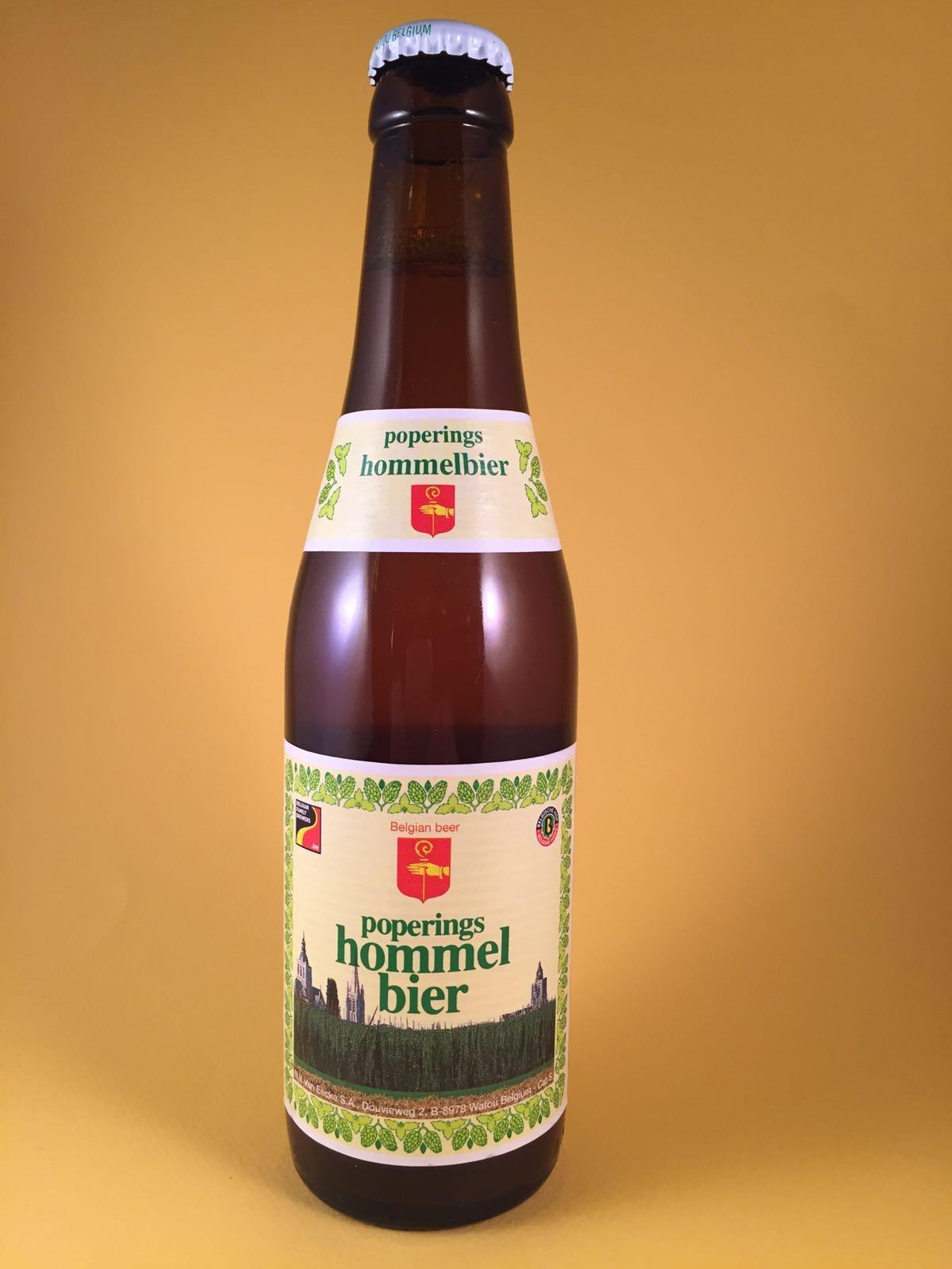 Poperings Hommel Bier Herkomst: Watou, België De brouwerij is na de 1e wereldoorlog weer opnieuw gebouwd nadat het volledig was plat gebombardeerd. Goudkleurig dorstlessend bier met een verfrissende honigzachte afdronk. Lekker hoppig met tonen van komijnzaad. De hop zorgt echter nooit voor een droge mond. Het bier bevat een alcoholpercentage van 7,5%. Serveeradvies: 7 graden