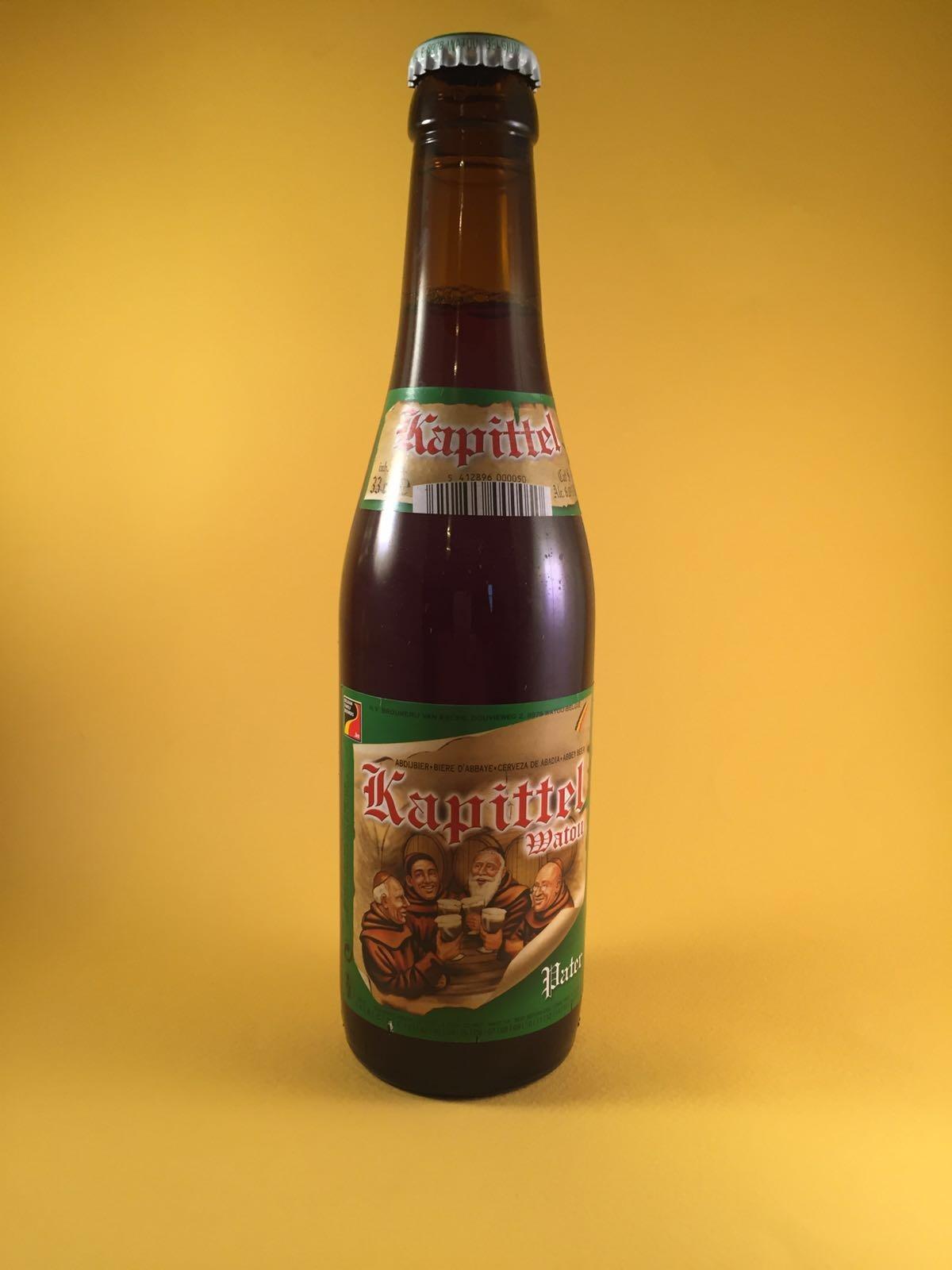Kapittel Pater Herkomst: Watou, België Brouwerij van Eecke is één van de zes brouwerijen in België waar ze de term Trappistenbier mogen voeren. Het bier heeft een volle evenwichtige smaak en bevat toetsen van salmiak, drop, zoethout en laurier. Doordat dit bier laag in zijn alcohol zit, 6%, is dit toch stiekem een lekkere doordrinker. Serveertemperatuur: graad of 5.
