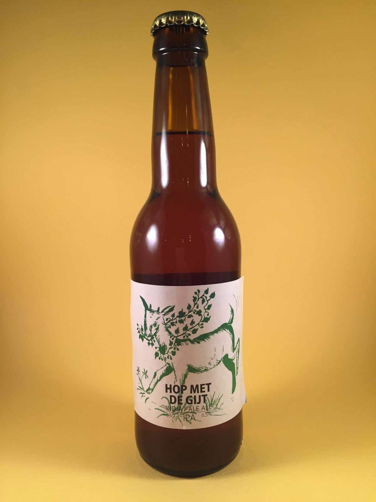 Hop met de gijt Herkomst: Weert, Nederland Dit Amberkleurig troebel IPA bier heeft geen hoge alcoholpercentage maar is wel verrassend vol van smaak. Dit bier heeft na het inschenken een vol hoppige schuimkraag en verrast na de eerste slok. In de smaak zijn tonen van citrus en boeket terug te vinden. Het bier heeft een alcoholpercentage van 6,5%. Advies serveertemperatuur: 8 graden