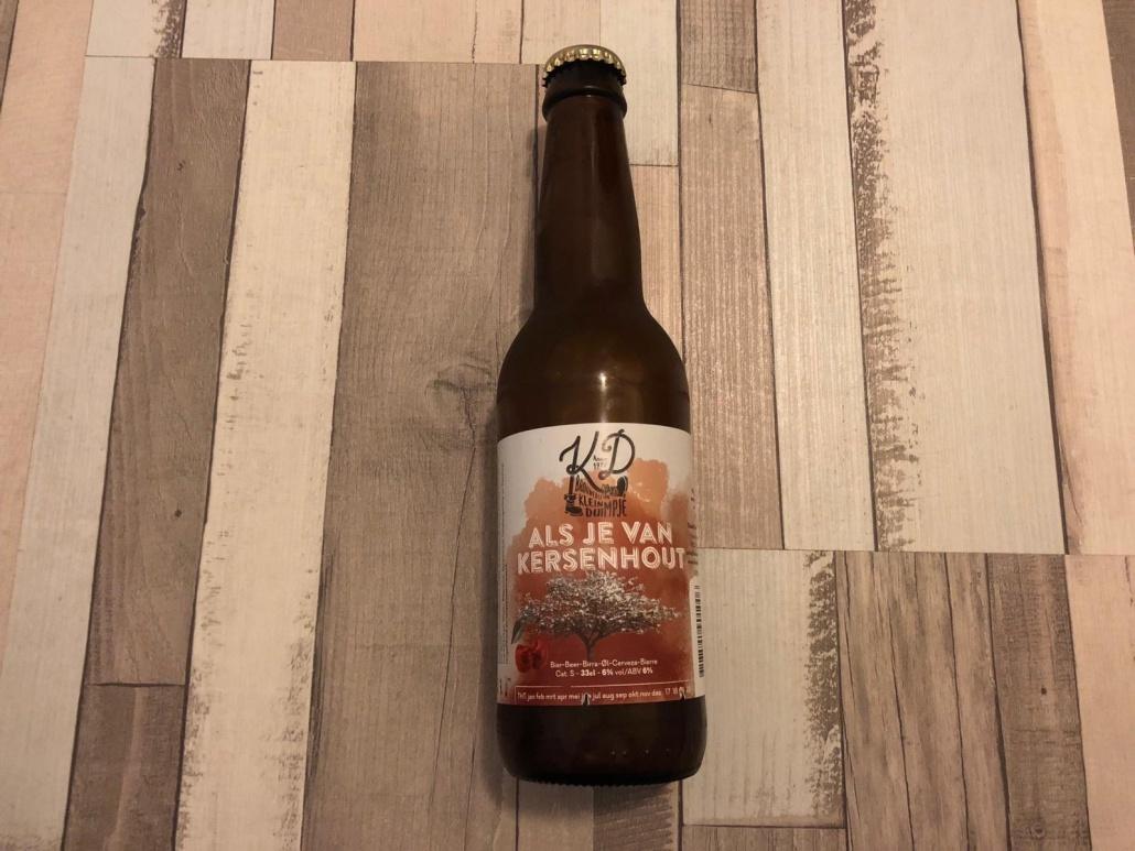 Als je van kersenhout  Herkomst: Hillegom, Nederland  Een blond bier met een stevige schuimkraag. Zoals je kunt verwachten ruikt het bier naar kersen. Ook in de smaak zijn de kersen te herkennen. Daarvoor wel als tip dat je het bier nog extra laat bruisen in je mond. Als je van kersen hout is afkomstig van brouwerij het Klein Duimpje. Een brouwerij met proeflokaal dat open is op donderdag, vrijdag en zaterdag en een breed assortiment aan eigen speciaalbieren.  Ze hebben namelijk meer dan 40 speciaalbieren in het assortiment. Het bier bevat een alcoholpercentage van 6%. Advies serveertemperatuur: 6 à 7 graden.