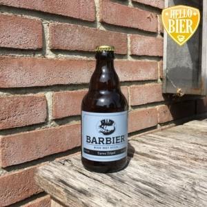 Tarwe Tripel  Herkomst: Biervliet, Nederland  Heldere tripel met de kleur van goud en een stevige schuimkraag. Droog van smaak met een body. De body en droge smaak komt mede door het gebruik van tarwe. Moutige geur herken je in de neus. Deze tarwe tripel is afkomstig van Bier met Stijl uit Biervliet. Een brouwer die je herkent als een stijlvolle man zoals je van een barbier gewent bent. Naast diverse bieren heeft deze brouwerij ook een webshop met bieritems zoals mutsen, petten, shirs, kammen en proefplankjes.  Alcoholpercentage: 7,6%