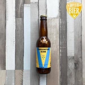Voorschotens Blond  Herkomst: Voorschoten, Nederland  Helder goudkleurig blondbier. Sprankelend in de mond en het koolzuurgehalte zorgt ook voor grove schuim. Moutige geur zoals bij een pils. Strak en gebalanceerd van smaak met weinig afdronk. Een blond bier waarbij maar één soort hop gebruikt is, Pacific Jade uit Nieuw-Zeeland. Een heerlijke dorstlesser voor op een winterdag.   Voorschotens blond is afkomstig van Brouwerij Voorschoten. De eerste brouwerij uit Voorschoten met een korte historie. Opgericht op 1 december 2018. Na een succesvolle introductie van de Voorschotens Tripel volgde in maart 2019 dit blond bier.   Alcoholpercentage: 5,5%