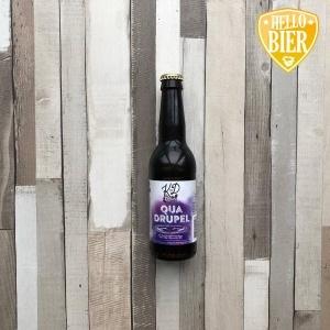 Quadrupel  Herkomst: Hillegom, Nederland  Quadrupel met de kleur van drop en een beige schuimkraag. Een stevig bier met smaken van hout, vanille en laurier. Dit bier geeft een warm mondgevoel en sluit af met een lichtbittere en ziltige afdronk.  Quadrupel is afkomstig van brouwerij Klein Duimpje uit Hillegom. Een brouwerij dat ooit klein is begonnen in een oude kas. Tegenwoordig bestaat het uit meerdere koelcellen die bij het complex horen waarin een brouwerij, proeflokaal en de opslag is gevestigd.  Alcoholpercentage: 10%