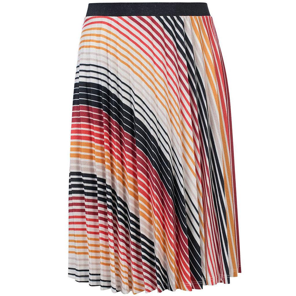 Plisse rok (gradient stripe)