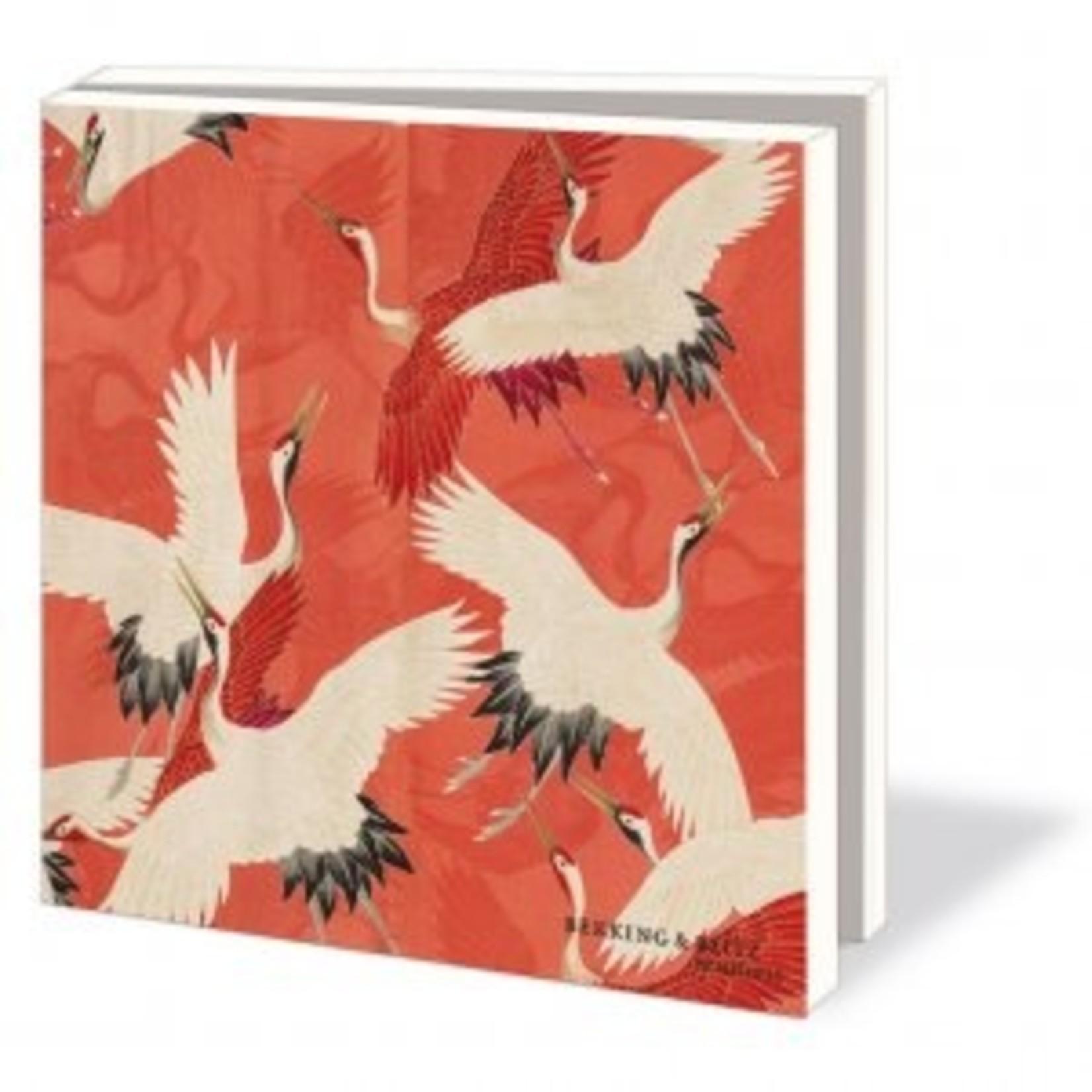 Bekking & Blitz Kaartenmap: Woman haori with Red and White Cranes