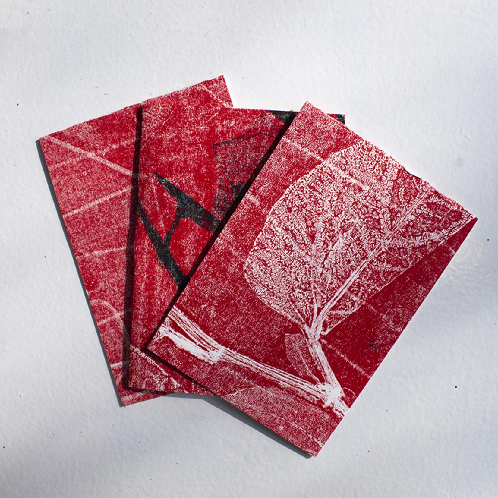 Roos Terra Handgedrukte postkaarten van Roos Terra