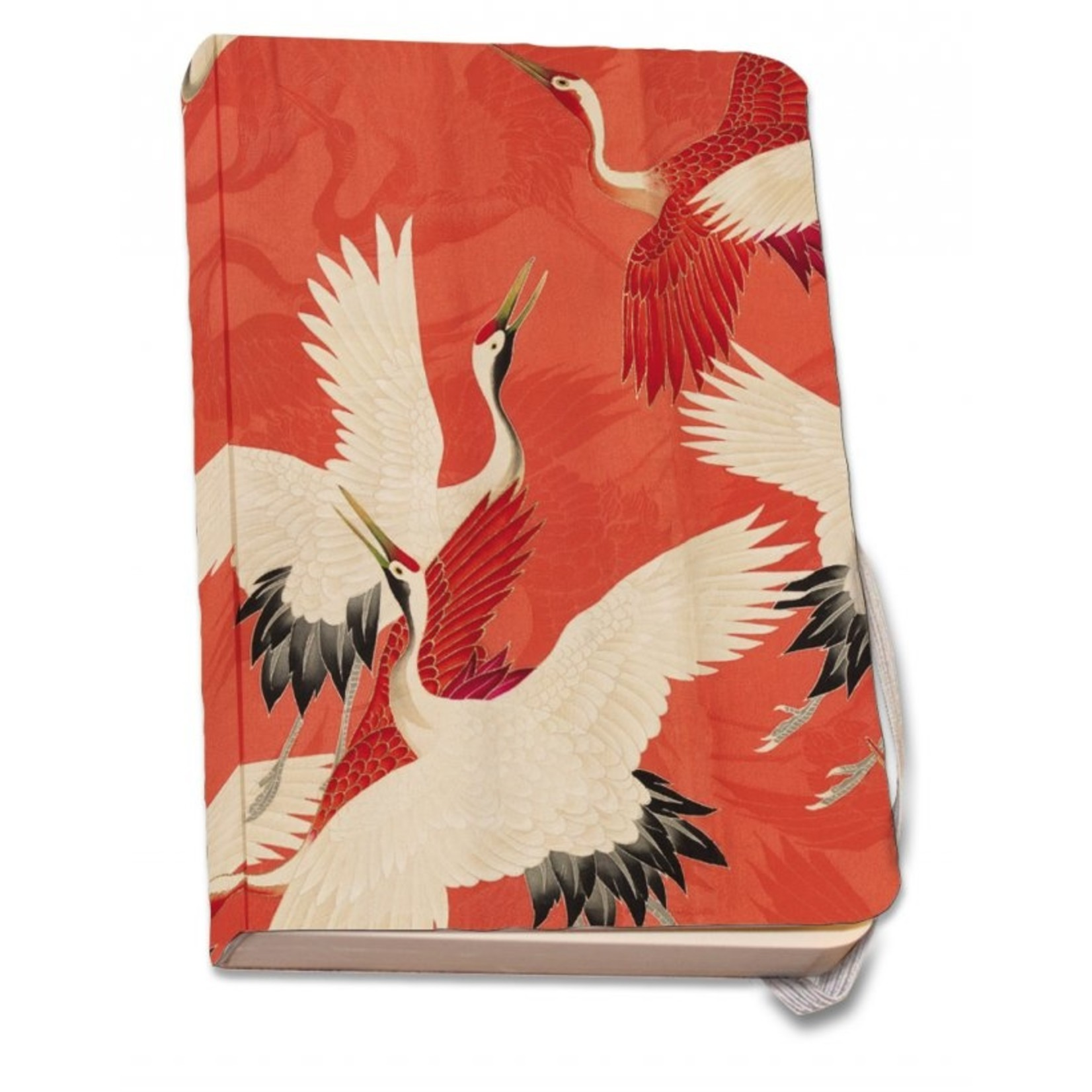 Bekking & Blitz Woman haori with Red and White Cranes(A6) Zachte kaft
