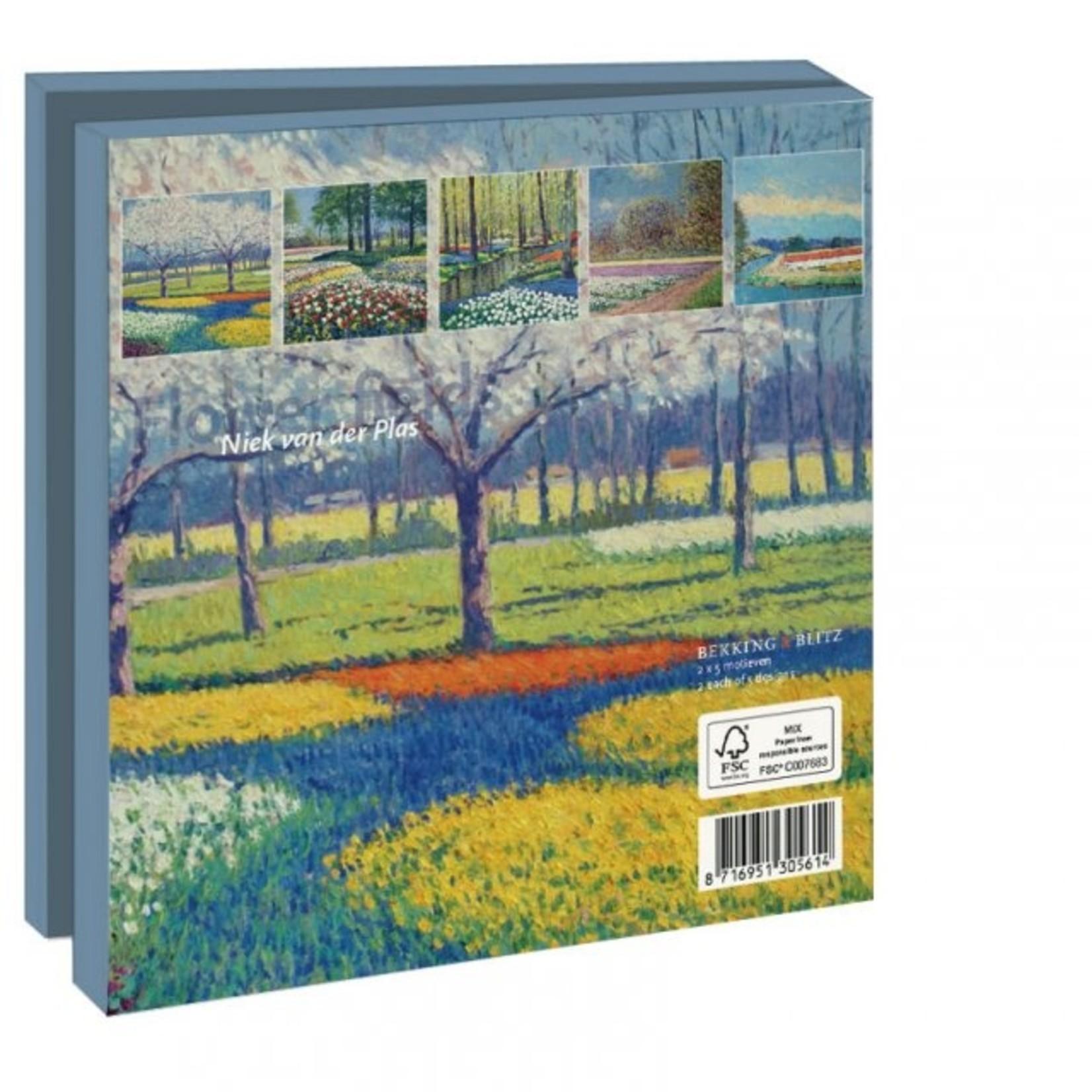Bekking & Blitz Kaartenmap: Flower fields, Niek van der Plas
