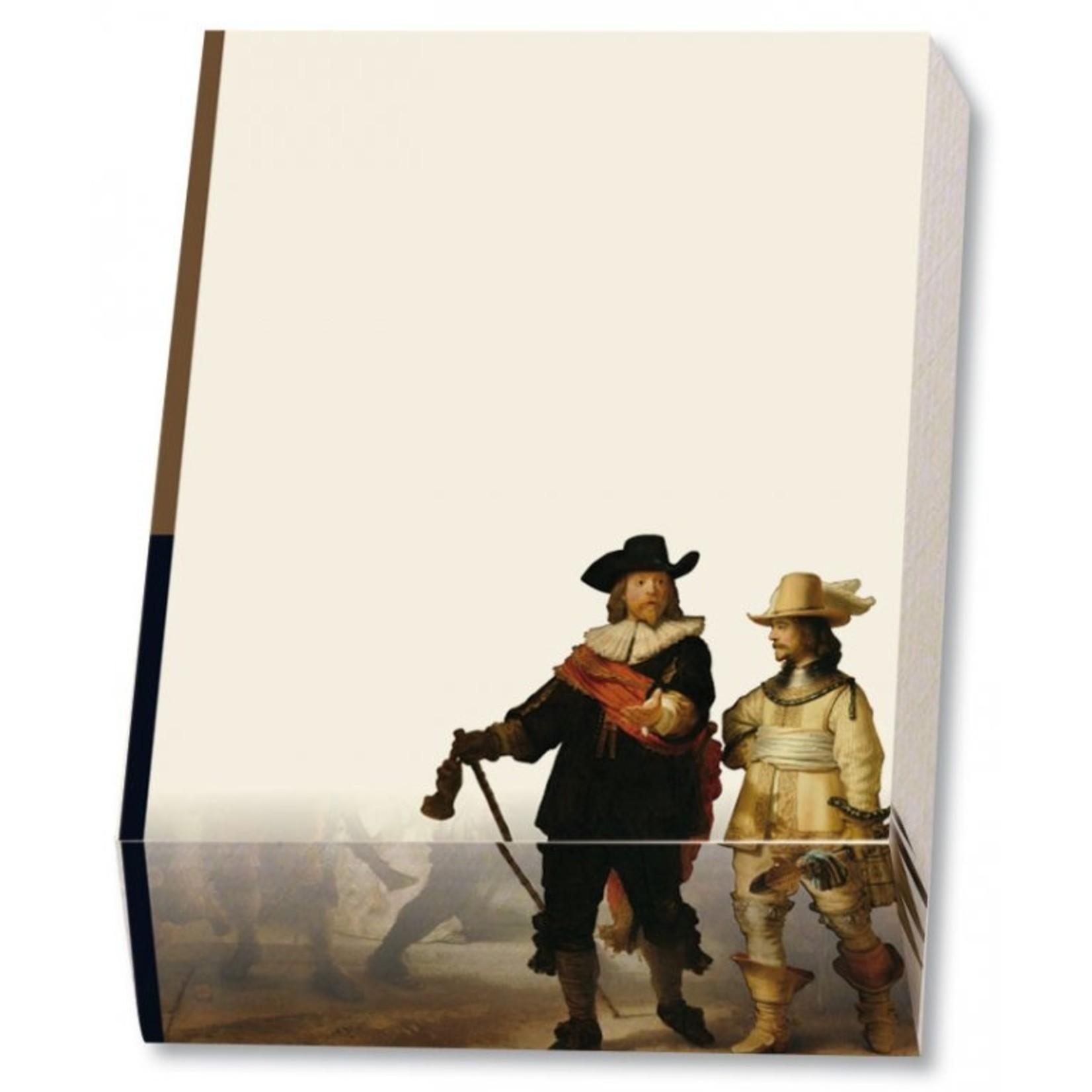 Bekking & Blitz Memo blocnote: Nachtwacht, Rembrandt van Rijn