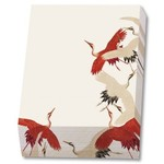 Bekking & Blitz Woman haori with Red and White Cranes
