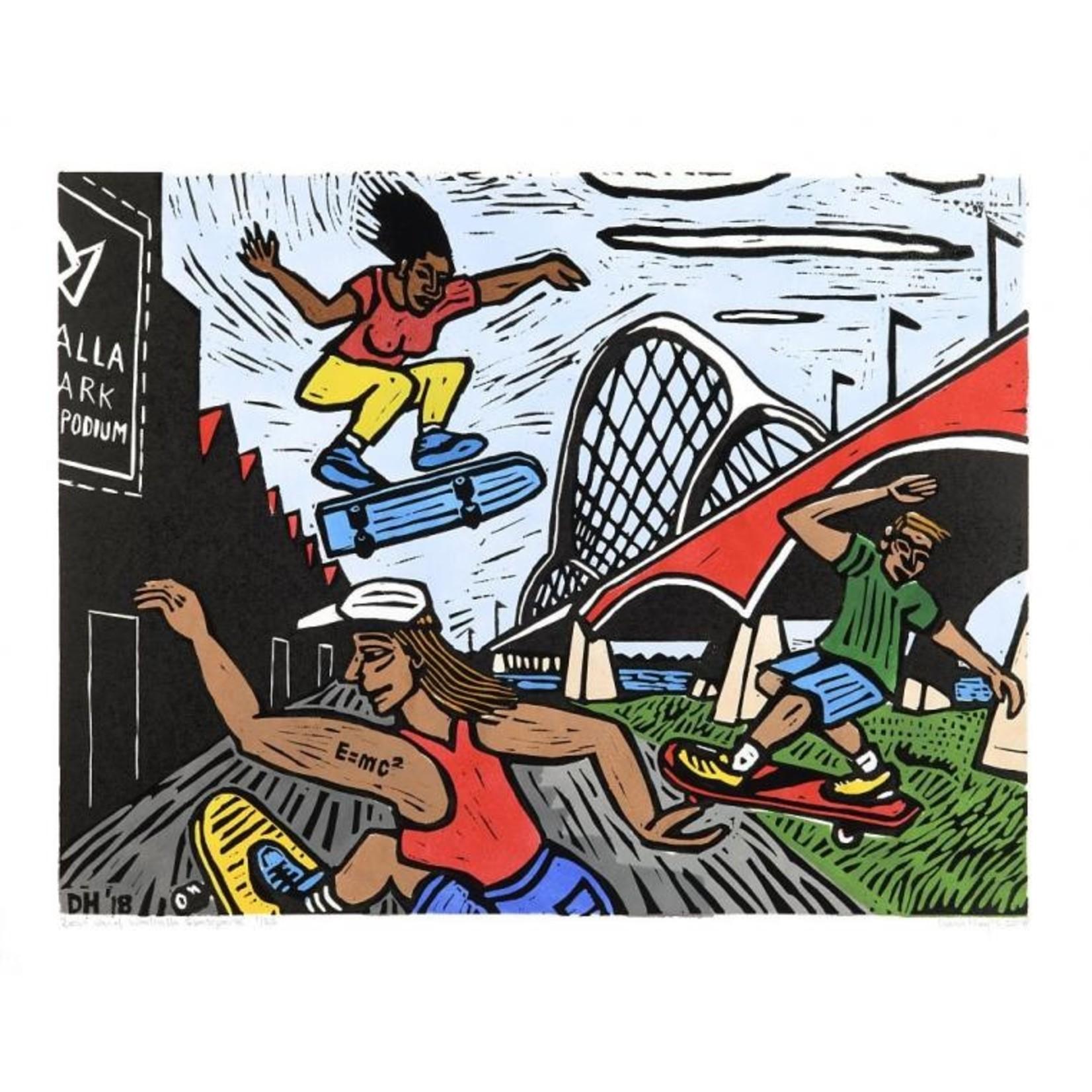 Diana Huijts Zicht vanaf Waalhalla Skatepark van Diana Huijts