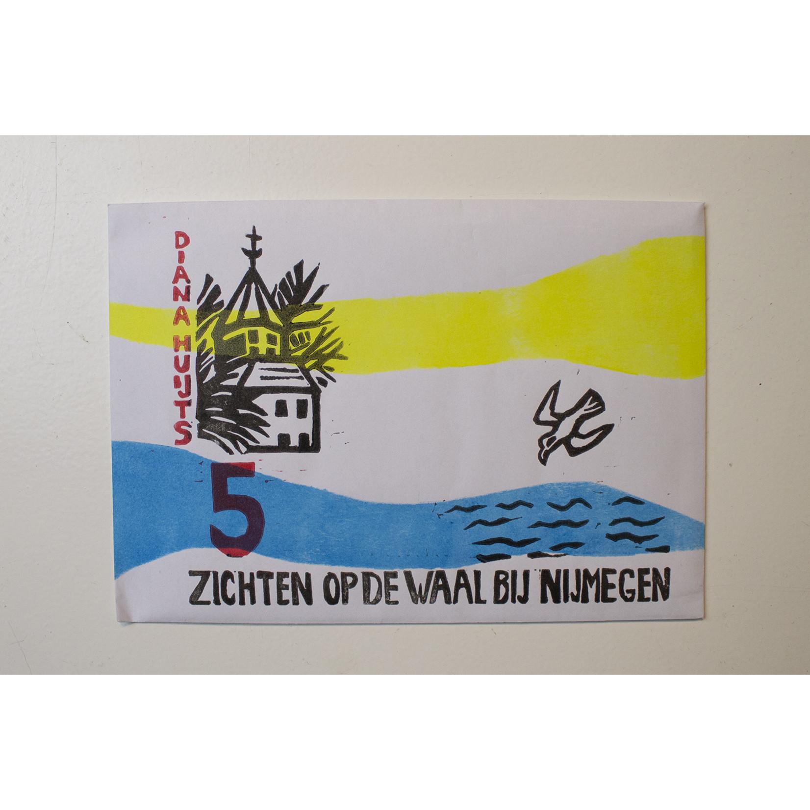 Diana Huijts 5 Zichten op Nijmegen kaartenmap - Diana Huijts
