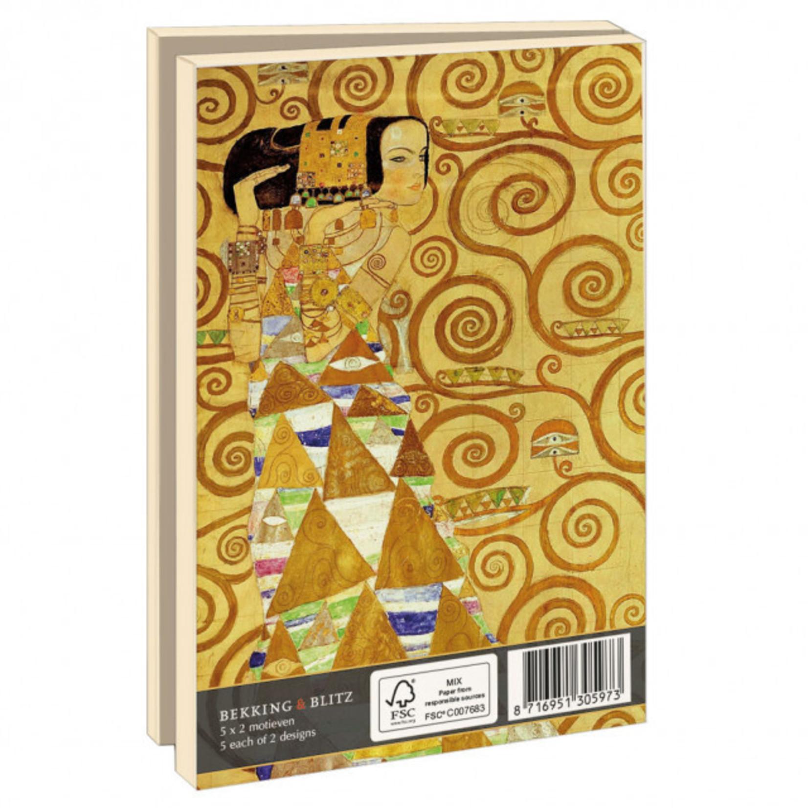 Bekking & Blitz Kaartenmap klein: Gustav Klimt