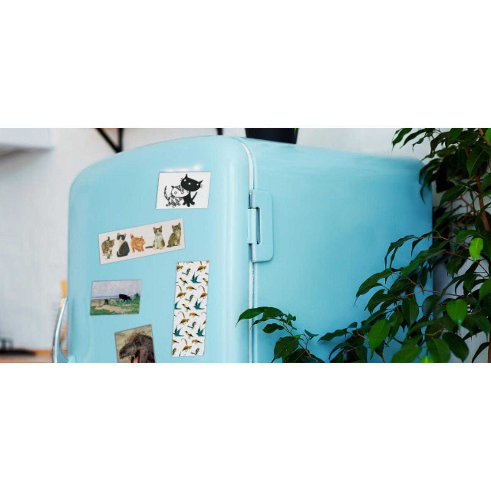 Bekking & Blitz Koelkastmagneet: Landschap met een wit huis, Malevich