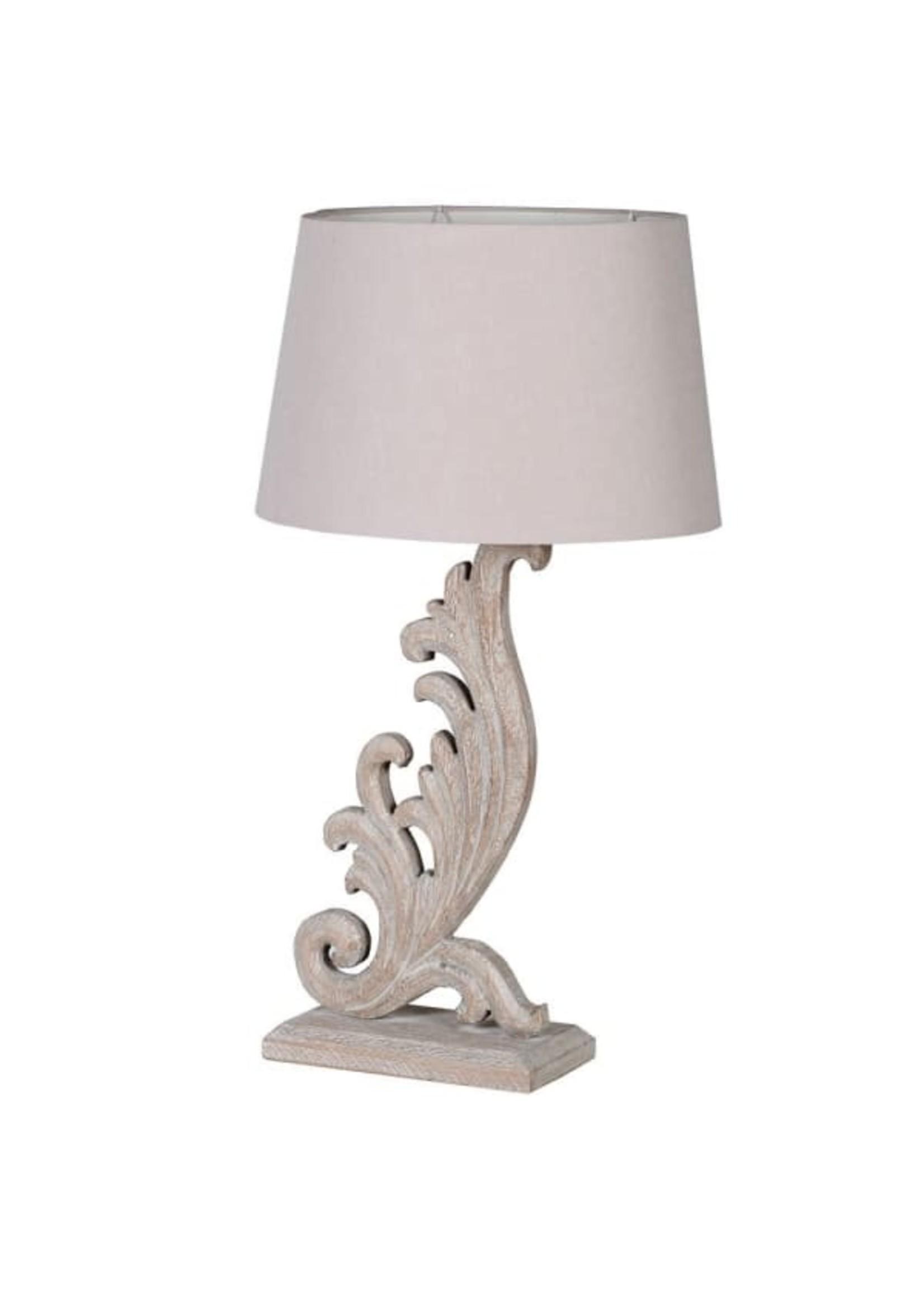 Cream wooden Lamp