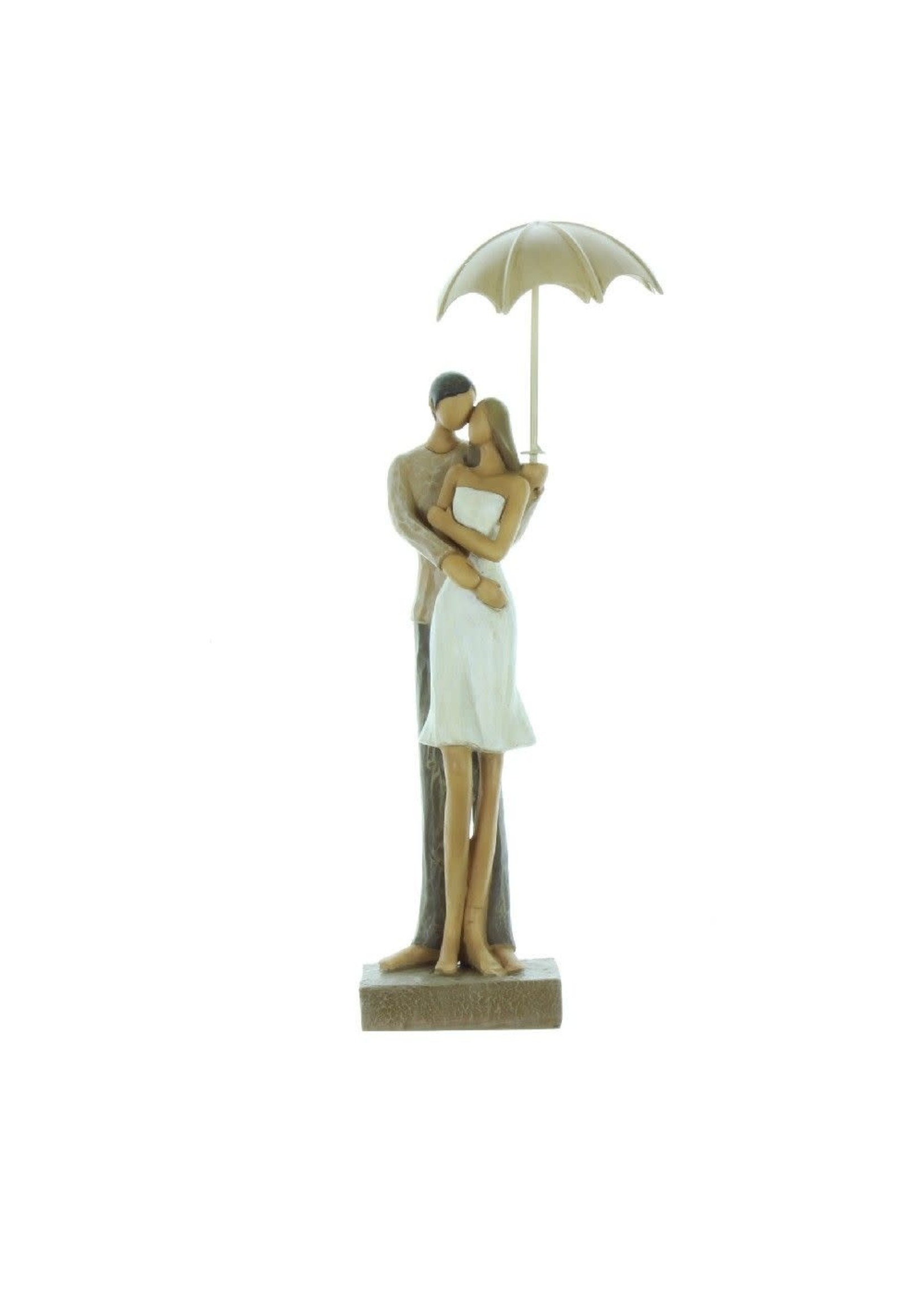 RAINY DAY COLLECTION RESIN FIGURINE - COUPLE EMBRACING