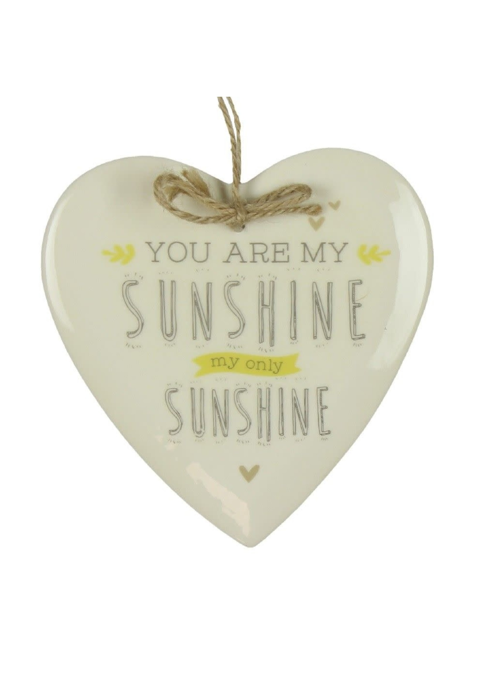LOVE LIFE HEART PLAQUE - YOU ARE MY SUNSHINE