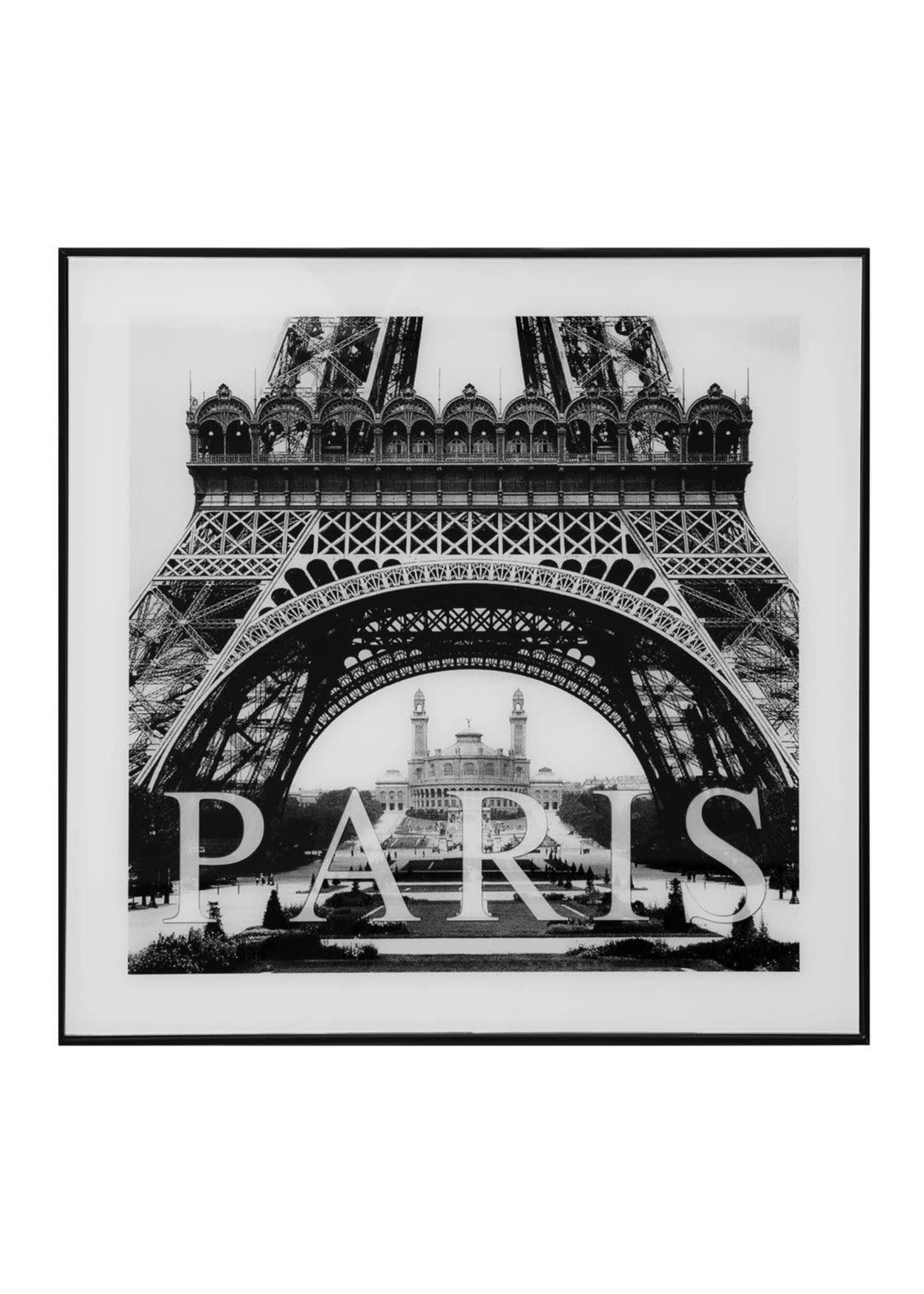 FRAMED GLASS LANDMARK WALL ART - PARIS