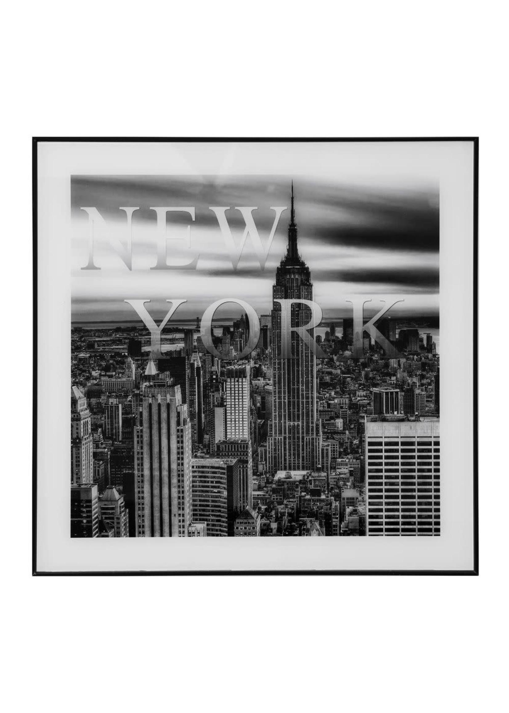 FRAMED GLASS LANDMARKS WALL ART - NEW YORK