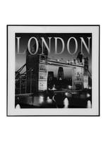 FRAMED GLASS LANDMARK WALL ART - LONDON