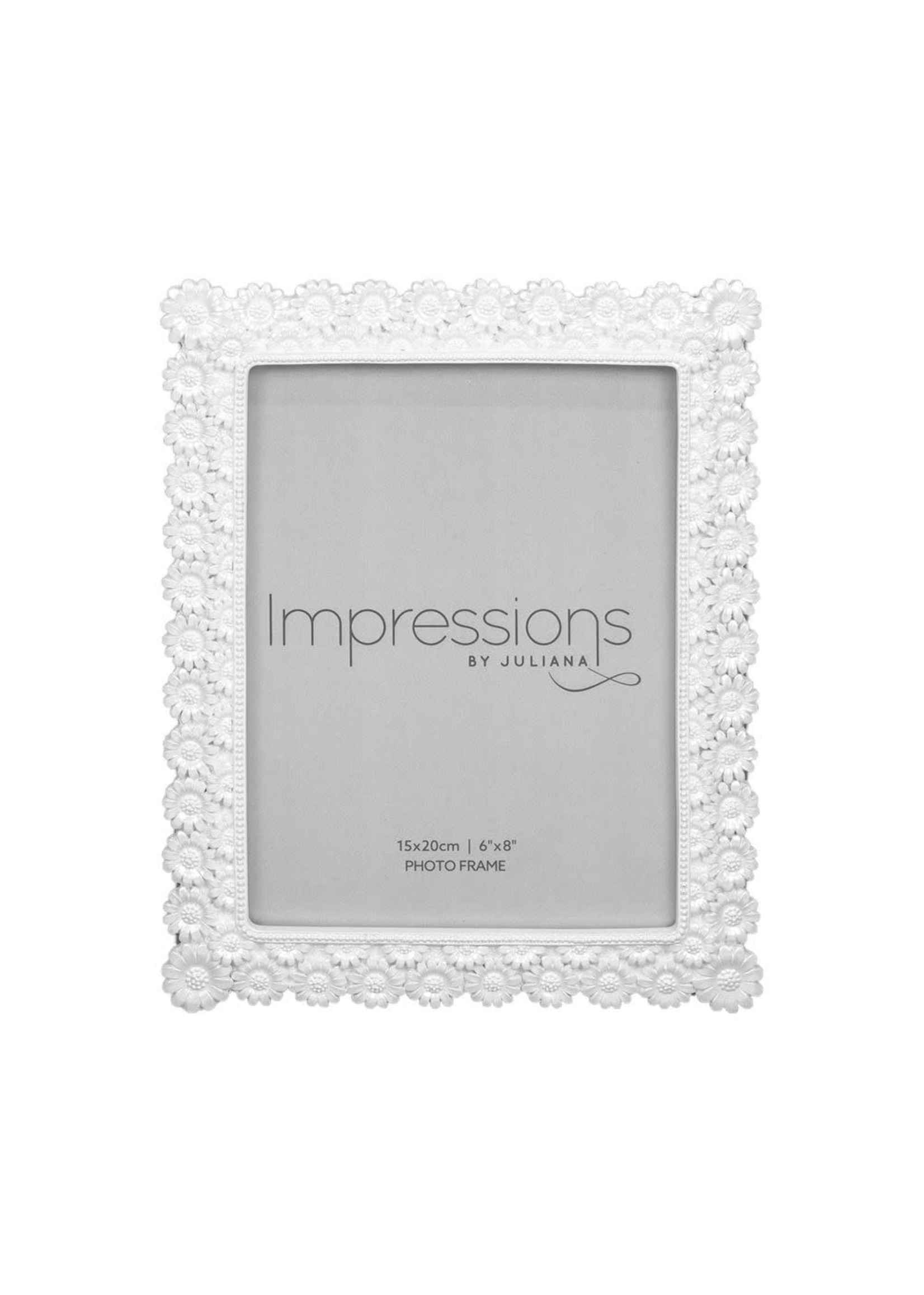 """6"""" X 8"""" - IMPRESSIONS® PEARLISED RESIN DAISY PHOTO FRAME"""