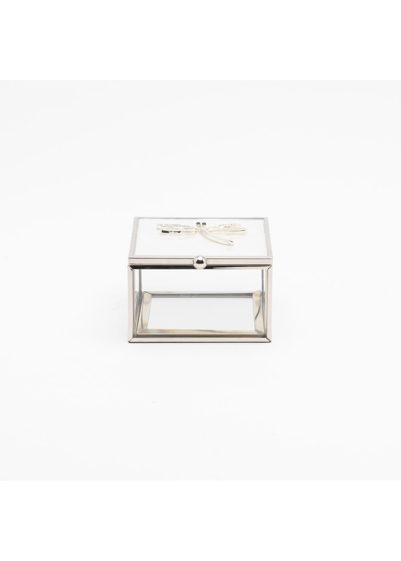 SOPHIA DRAGONFLY TRINKET BOX WITH WHITE ENAMEL & CRYSTALS