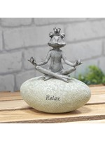 COUNTRY LIVING YOGA FROG ON A STONE - RELAX
