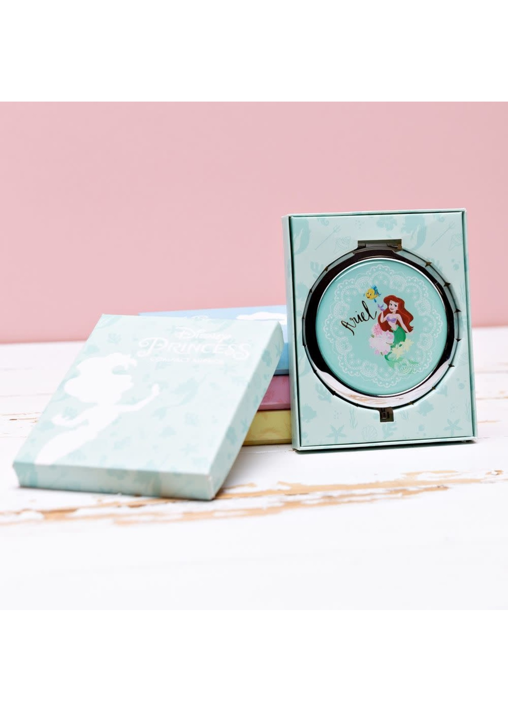 DISNEY THE LITTLE MERMAID GOLD FOIL EMBOSSED COMPACT MIRROR