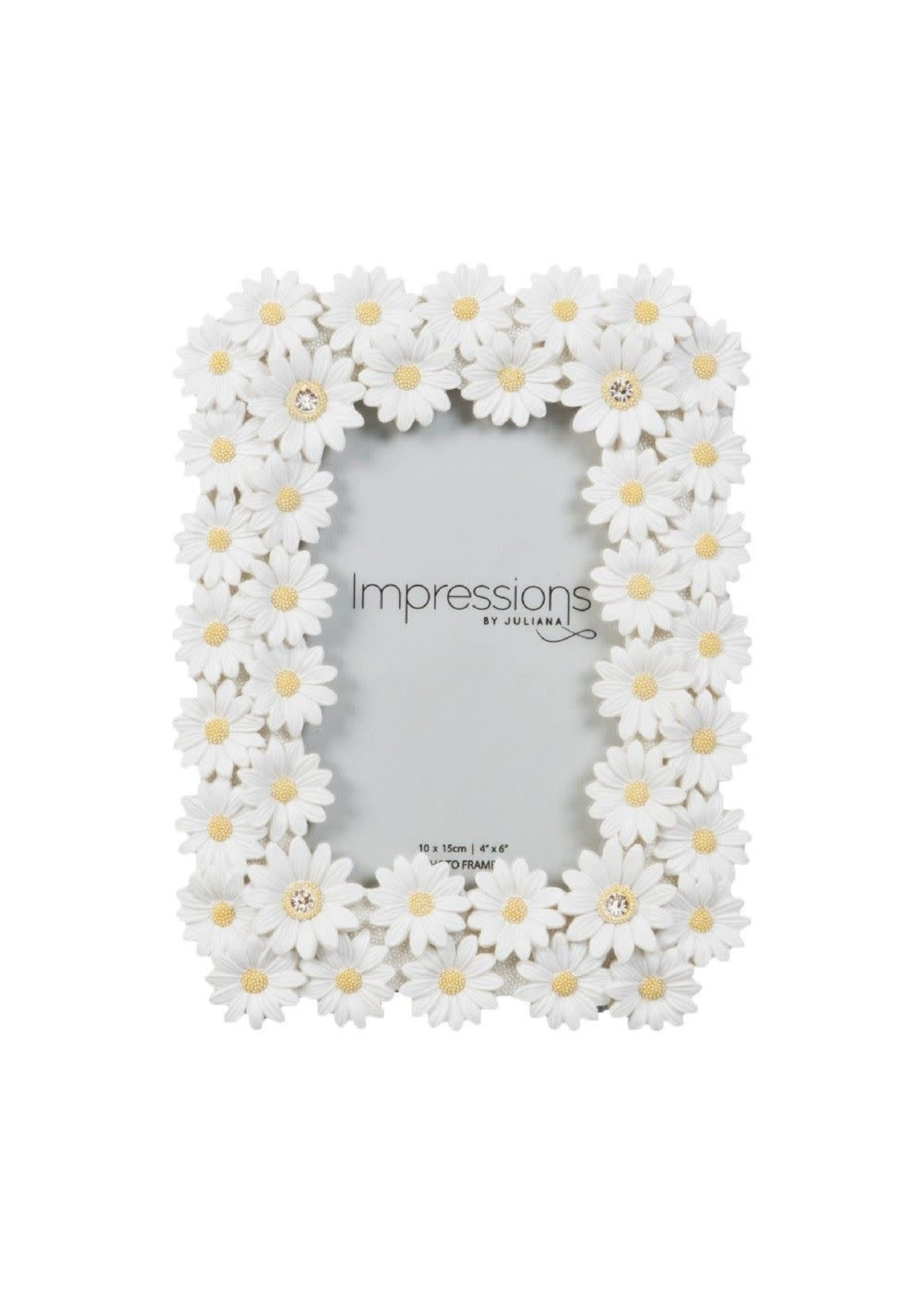 """4"""" X 6"""" - IMPRESSIONS FLORAL DAISY PHOTO FRAME"""