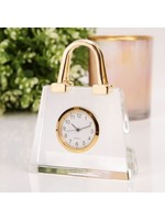 MINIATURE GLASS CLOCK - HANDBAG
