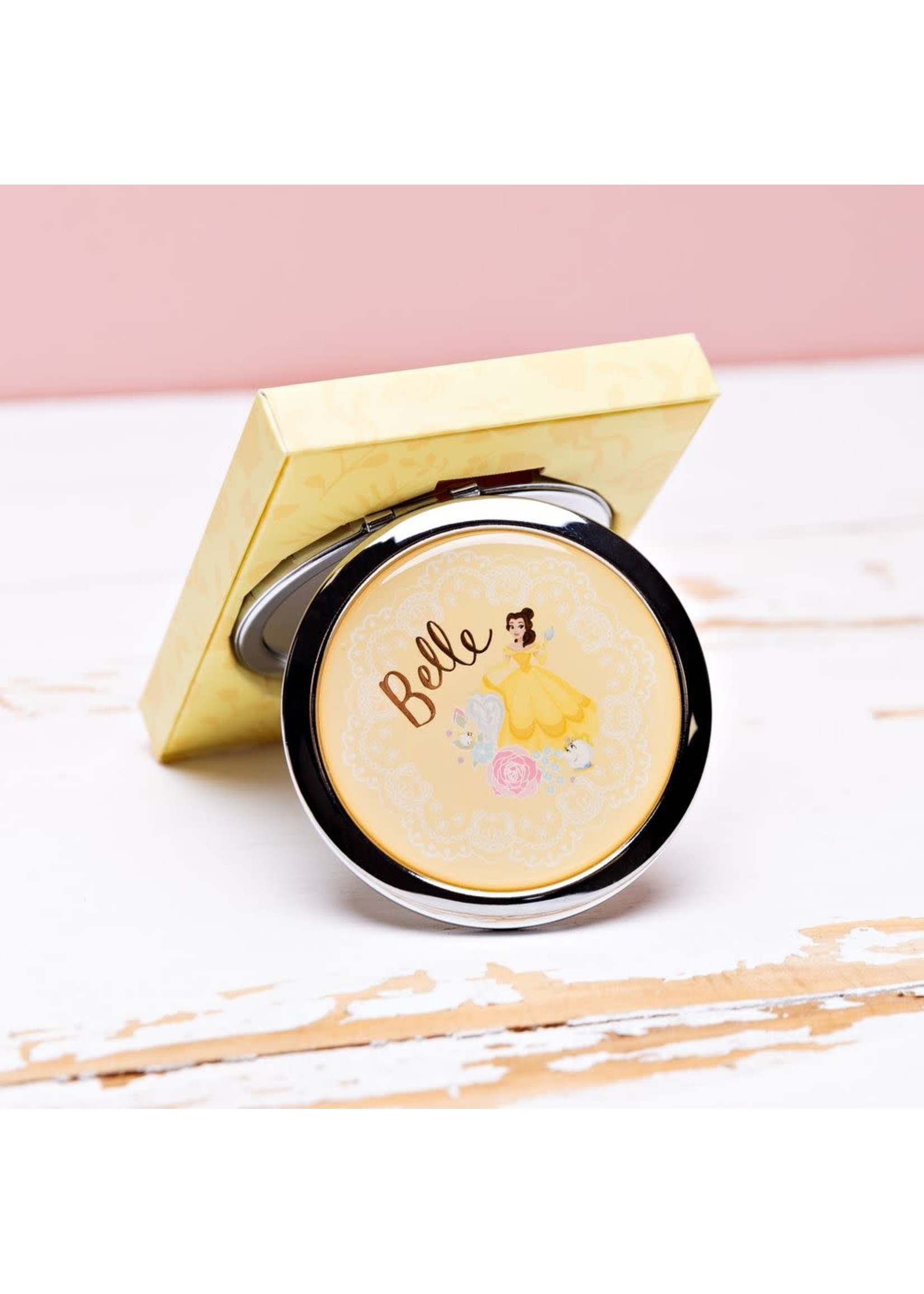 DISNEY BEAUTY & THE BEAST GOLD FOIL EMBOSSED COMPACT MIRROR