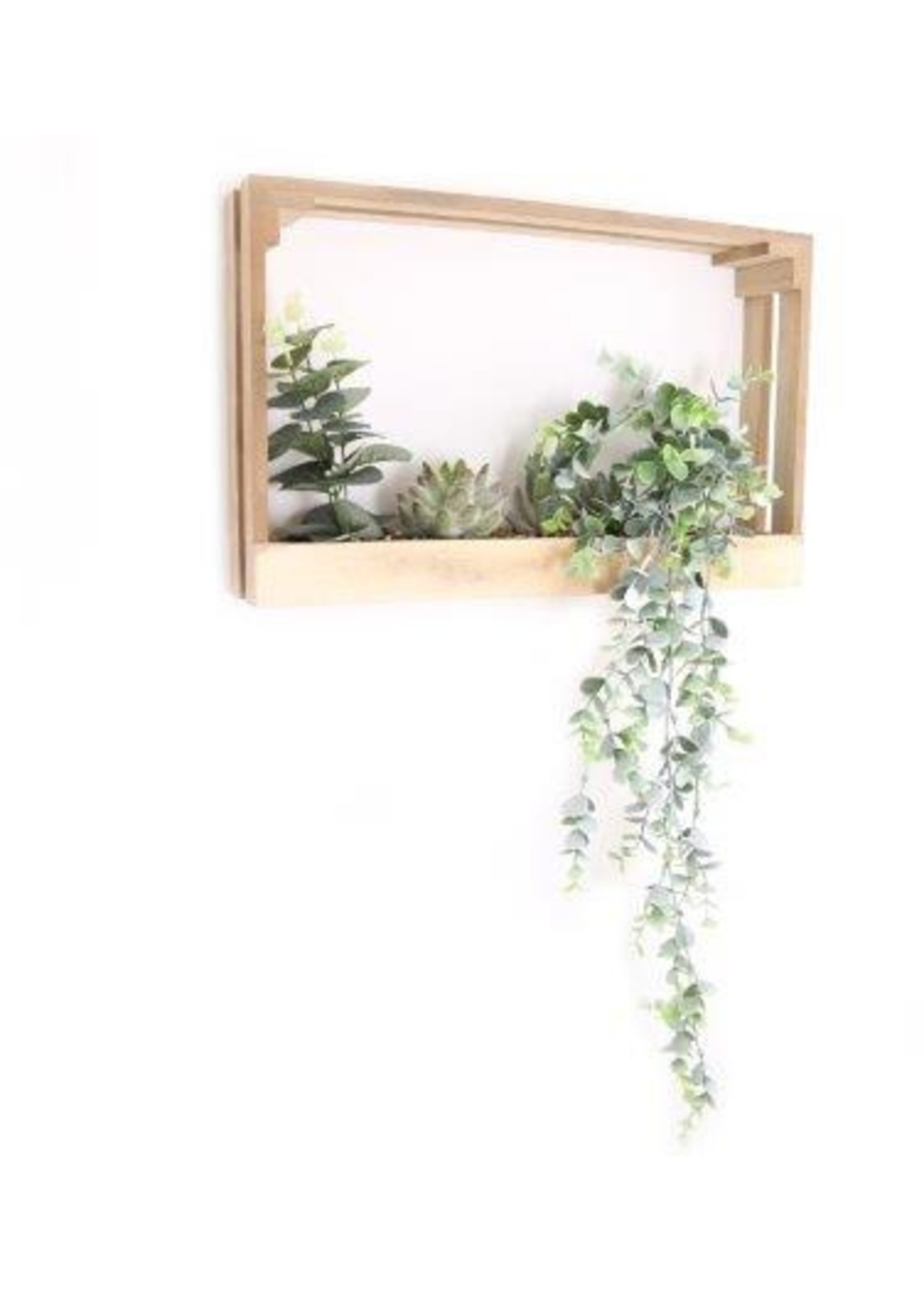 Crate With Artificial Plants