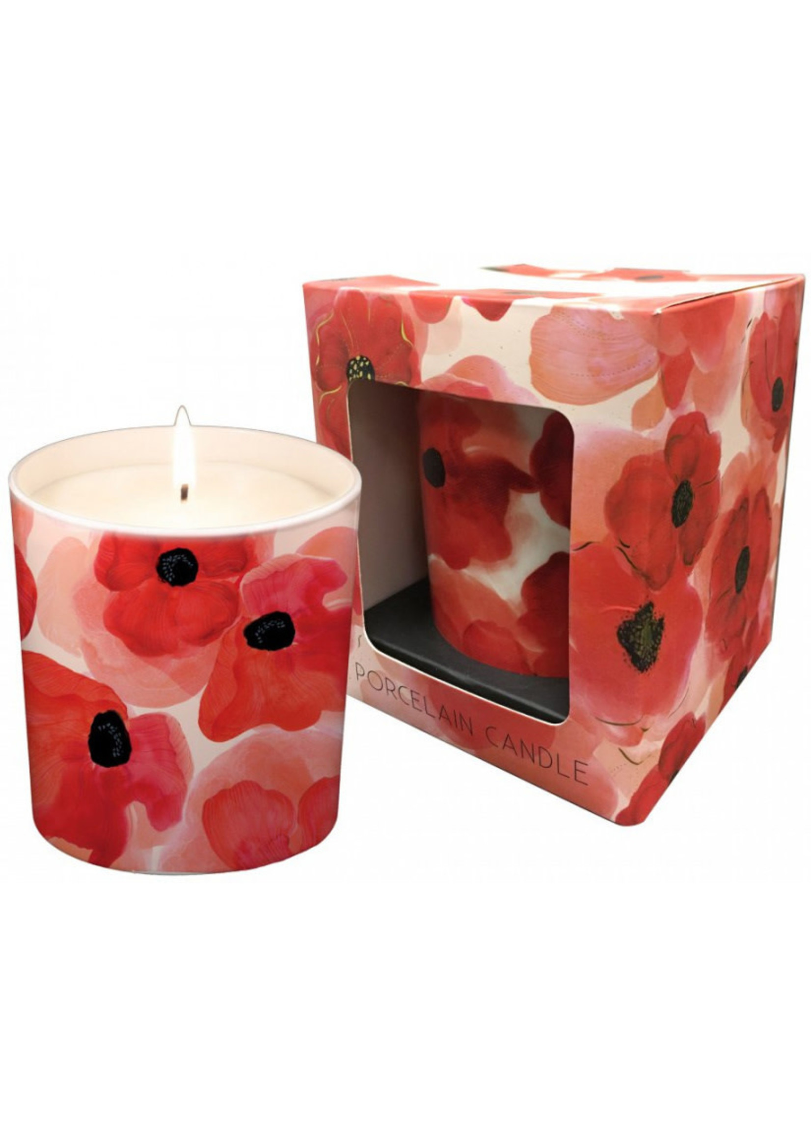 Red Poppy Candle