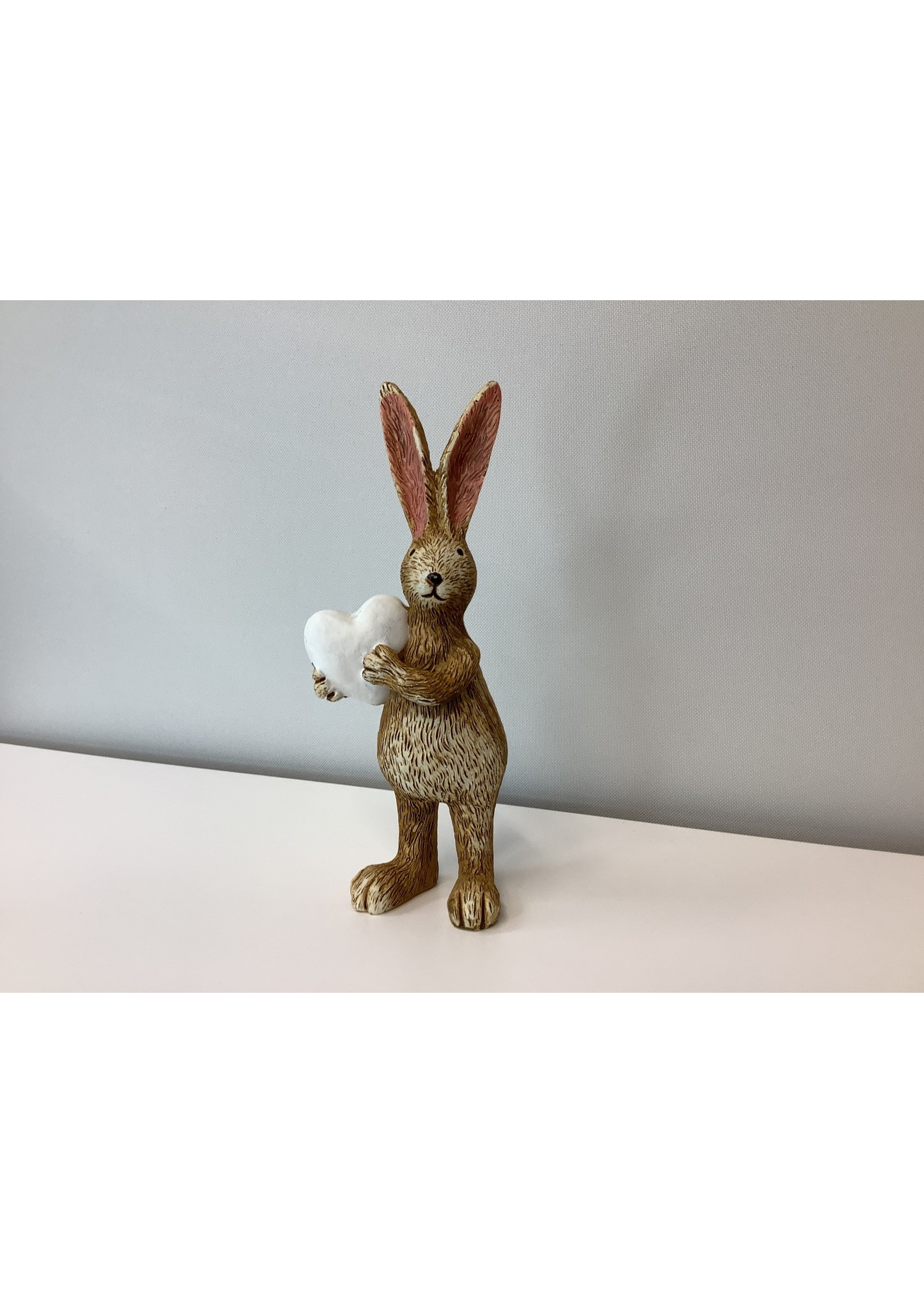 Standing rabbit with heart