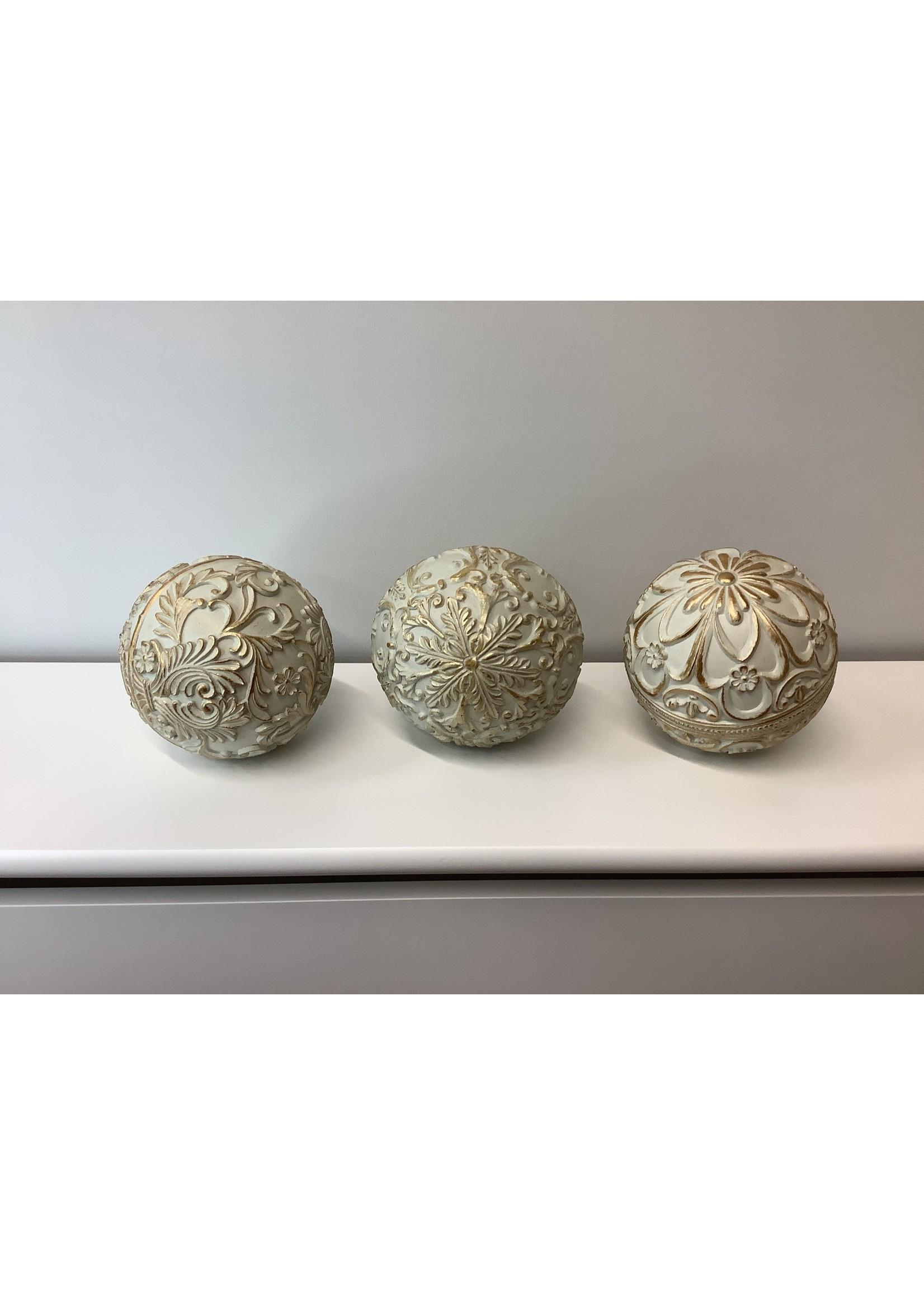 Set of three decorative balls